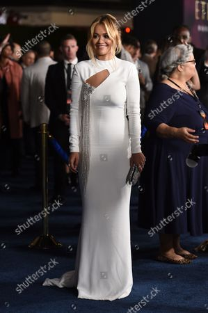 """Stock Image of Rita Ora arrives at the premiere of """"Eternals"""" on Monday, Oct. 18. 2021, in Los Angeles"""