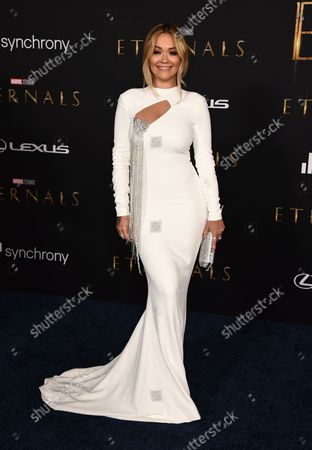 """Editorial picture of Premiere of """"Eternals"""", Los Angeles, United States - 19 Oct 2021"""