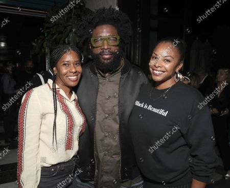 """Freeform Onyx Collective President Tara Duncan, Director Ahmir """" Questlove """" Thompson and ABC News Onyx Collection Head of Documentary Jacqueline Golver attend a Searchlight Pictures """"Soul of Summer"""" Tastemaker Event"""""""