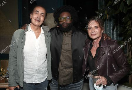 """Paul Flynn, Director Ahmir """" Questlove """" Thompson and Ross Maple attend a Searchlight Pictures """"Soul of Summer"""" Tastemaker Event"""""""