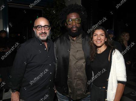 "Producer David Dinerstein, Director Ahmir "" Questlove "" Thompson and EP Jannat Gargi attend a Searchlight Pictures ""Soul of Summer"" Tastemaker Event"""