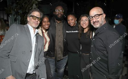 """Producer Robert Fyvolent, Freeform Onyx Collective President Tara Duncan, Director Ahmir """" Questlove """" Thompson and ABC News Onyx Collection Head of Documentary Jacqueline Golver, EP Jannat Gargi and Producer David Dinerstein attend a Searchlight Pictures """"Soul of Summer"""" Tastemaker Event"""""""