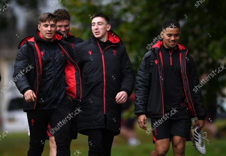 Stock Picture of Taine Basham, Will Rowlands, Josh Adams and Ben Thomas during training.
