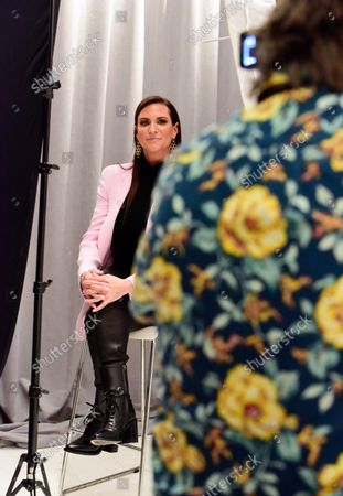 Stock Picture of Stephanie McMahon, WWE, Chief Brand Officer, with portrait photographer Andrew H. Walker