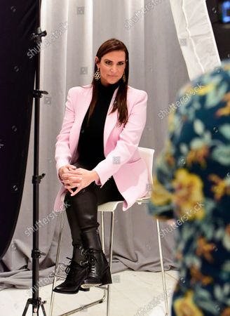 Stephanie McMahon, WWE, Chief Brand Officer, with portrait photographer Andrew H. Walker