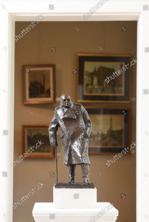 Editorial picture of A rare maquette of Sir Winston Churchill's famous statue in Parliament Square has sold at auction for £75,000, UK - 07 Oct 2021