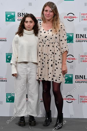 Clara Roquet (R) and actress Maria Morera pose during a photocall for the movie 'Libertad' at the 16th annual Rome International Film Festival, in Rome, Italy, 19 October 2021. The film festival runs from 14 to 24 October.