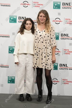 Director Clara Roquet, right, and actress Maria Morera Colomer pose during a photo call for the movie Libertad, at the 16th edition of the Rome Film Fest in Rome