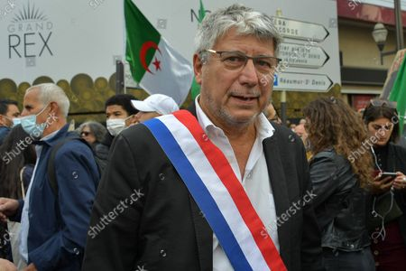 Eric Coquerel from LFI. Memorial march from the Grand Rex cinema to Place du Châtelet in Paris on October 17, 2021, to pay tribute to the Algerians killed by the Parisian police during a demonstration, 60 years ago on the night of October 17, 1961 and denounce a state crime.