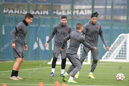 Editorial picture of UEFA Champions League PSG training session, Saint Germain en Laye, France - 18 Oct 2021