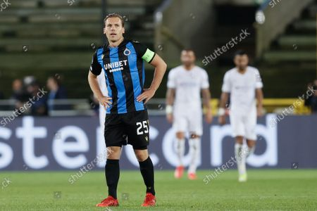 Club's Ruud Vormer looks dejected during a game between Belgian soccer team Club Brugge and English club Manchester City, Tuesday 19 October 2021, in Brugge, Belgium, the third (out of six) in the Group A of the UEFA Champions League group stage.