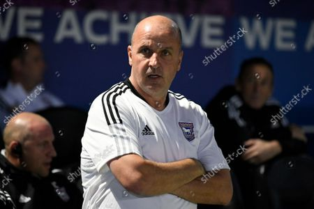 Stock Photo of Ipswich Town manager Paul Cook during the EFL Sky Bet League 1 match between Portsmouth and Ipswich Town at Fratton Park, Portsmouth