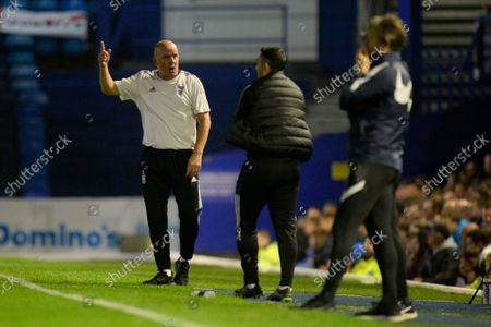 Ipswich Town manager Paul Cook  gestures during the EFL Sky Bet League 1 match between Portsmouth and Ipswich Town at Fratton Park, Portsmouth
