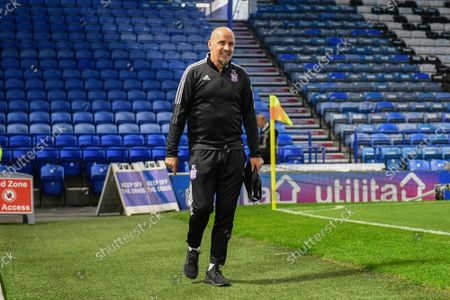 Stock Image of Ipswich Town manager Paul Cook  arrives ahead of the EFL Sky Bet League 1 match between Portsmouth and Ipswich Town at Fratton Park, Portsmouth