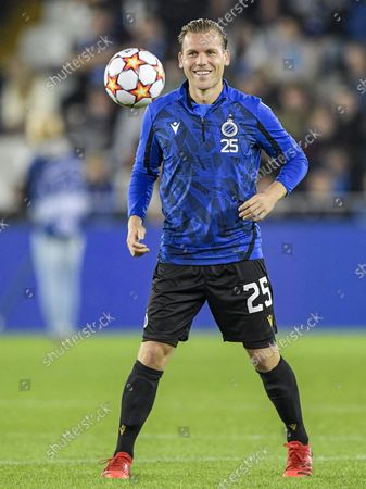 Ruud Vormer of Club Brugge during the UEFA Champions League match between Club Brugge and Manchester City FC at the Jan Breydel Stadium on October 19, 2021 in Bruges, Belgium.