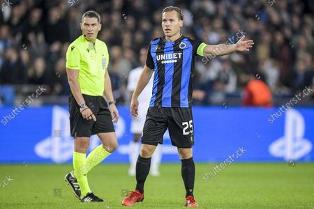 Stock Photo of Ruud Vormer of Club Brugge during the UEFA Champions League match between Club Brugge and Manchester City FC at the Jan Breydel Stadium on October 19, 2021 in Bruges, Belgium.