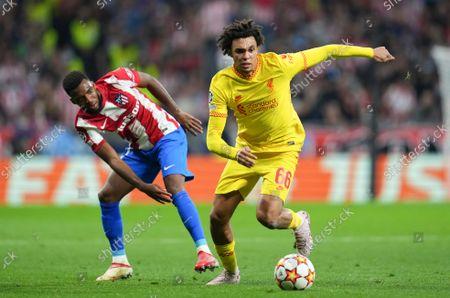 Editorial photo of Atletico Madrid v Liverpool, UEFA Champions League, Group B, Football, Estadio Metropolitano, Madrid, Spain - 19 Oct 2021