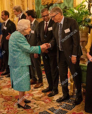 Queen Elizabeth II welcomes Bill Gates