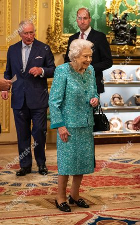 Queen Elizabeth II and members of the Royal Family, hosted a reception for international business and investment leaders at Windsor Castle to mark the Global Investment Summit.