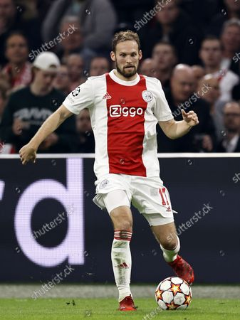 Daley Blind of Ajax during the UEFA Champions League match between Ajax Amsterdam and Borussia Dortmund at the Johan Cruijff arena