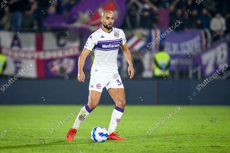 Fiorentina's Sofyan Amrabat portrait in action