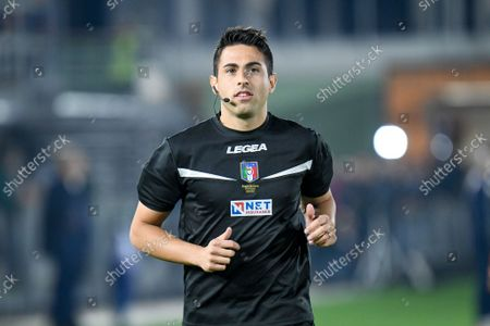 Stock Photo of The referee of the match Luca Massimi