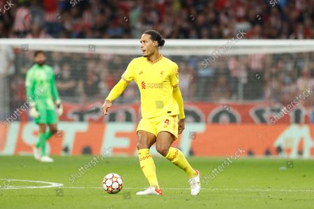 Virgil van Dijk (Liverpool) - Football / Soccer : UEFA Champions League group stage Matchday 3 Group B match between Culb Atletico de Madrid 2-3 Liverpool FC at the Estadio Metropolitano in Madrid, Spain.
