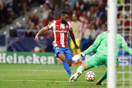 Thomas Lemar (Atletico) - Football / Soccer : UEFA Champions League group stage Matchday 3 Group B match between Culb Atletico de Madrid 2-3 Liverpool FC at the Estadio Metropolitano in Madrid, Spain.