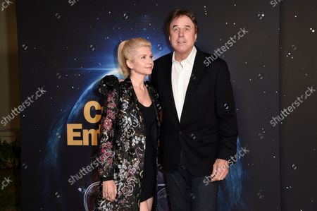 """Kevin Nealon, right, and Susan Yeagley arrive at the premiere of """"Curb Your Enthusiasm"""", at Paramount Studios in Los Angeles"""