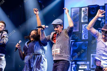 'Freestyle Love Supreme' curtain call - Aneesa Folds and Lin-Manuel Miranda