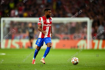 Thomas Lemar during UEFA Champions League match between Atletico de Madrid and Liverpool FC at Wanda Metropolitano on October 19, 2021 in Madrid, Spain.