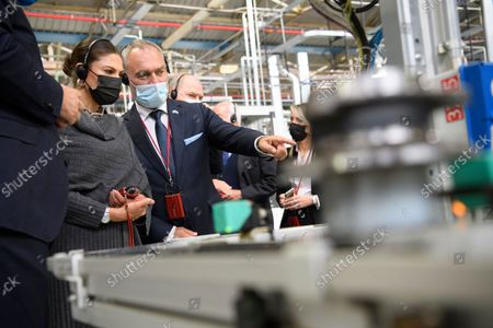 Crown Princess Victoria at the Fiat factory in Turin, Italy