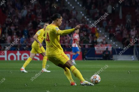 Editorial image of Atletico de Madrid - Liverpool Champions League Group B, Spain - 19 Oct 2021