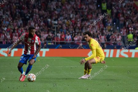 Stock Picture of Lemar. More than 55.000 people comes to see the match between Atlético de Madrid and Liverpool, Griezmann twice and Mohamed Salah two times too, makes the majority of the goals, for a match which the final score was 2 to 3 whit victory of Liverpool.