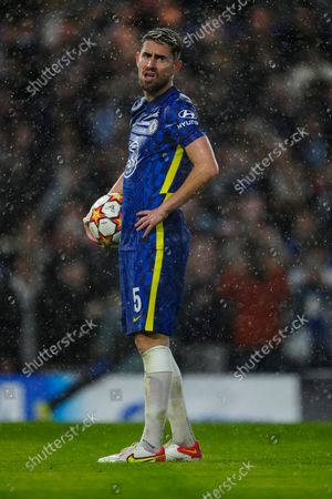 Jorginho of Chelsea prepares to take a penalty