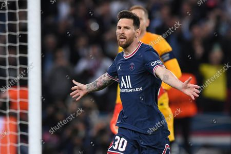 Goal cheering for the 3:2 by Lionel Lionel Messi (Paris)