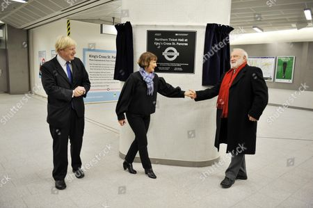 Mayor For London Boris Johnson And Minister For London Tessa Jowell Open The New Ticket Hall At King's Cross St. Pancras Station Today With Local Mp Frank Dobson