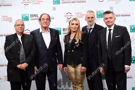 Carlo Siliotto composer, director Oliver Stone, Vera Tomilova, Igor Kobzev (producer) , Elnar Mukhamedyarov (photography director)