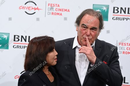 Director Oliver Stone with wife Sun-jung Jung