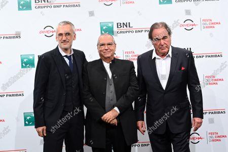 The director Igor Lopatonok, Oliver Stone, Carlo Siliotto composer