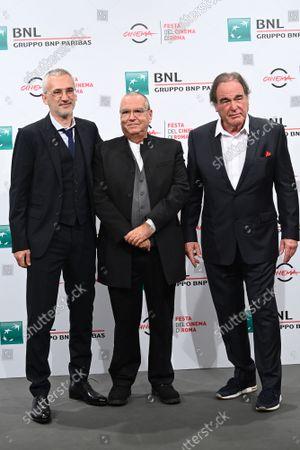 The director Igor Lopatonok, Carlo Siliotto composer, director Oliver Stone