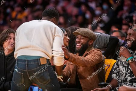 Editorial image of Celebrities attend Los Angeles Lakers v Golden State Warriors, Staples Center, Los Angeles, California, USA - 19 Oct 2021