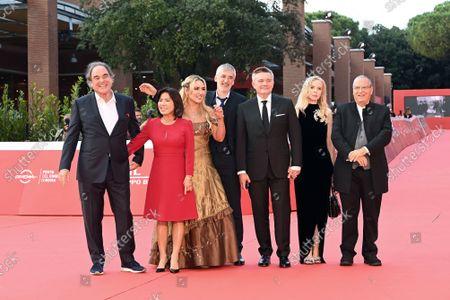 The director Igor Lopatonok and cast : director Oliver Stone with wife Sun-jung Jung (L), Vera Tomilova, Igor Kobzev producers, Carlo Siliotto composer