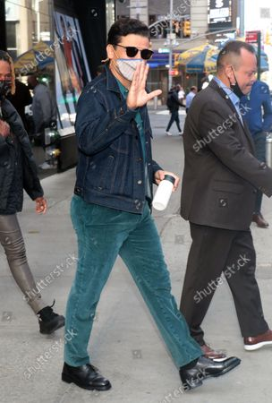Oscar Isaac seen exiting ABC Studios after an appearance on Good Morning America promoting Dune