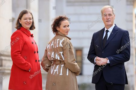 Editorial picture of Amanda Mealing and WaterAid at Whitehall, London, UK - 20 Oct 2021