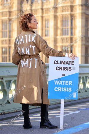 Editorial photo of Amanda Mealing and WaterAid at Whitehall, London, UK - 20 Oct 2021