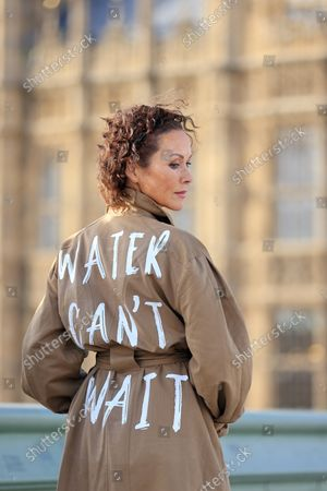 Actor and director Amanda Mealing joined WaterAid at Whitehall today wearing a specially designed jacket with the words 'Water can't wait', to present an open letter to the UK Government urging them to ensure vulnerable communities have clean water so they can protect themselves from the effects of climate change. She is joined by Fleur Anderson, MP and co-chair of the WASH and Lord Bates.The letter, which was signed by over 19,000 people from across the UK, was addressed to Boris Johnson and Liz Truss, Secretary of State for Foreign, Commonwealth and Development Affairs and MP for south west Norfolk.  Together, they are calling on the UK Government to invest one-third of the UK's committed international climate funding on locally-led adaptation projects, which will help vulnerable communities get the essentials like a reliable source of clean water to better adapt to climate change.New figures from a poll commissioned by WaterAid found that half the UK population support giving money to poorer nations to help them cope with the impacts of climate change. Two in five Brits (40 per cent) think the UK's influence and standing in the world would take a hit if the UK Government failed to meet its commitments to developing countries on climate change.