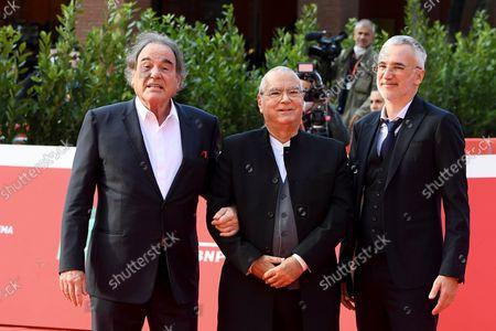 Stock Picture of Oliver Stone, Carlo Siliotto, Igor Lopatonok