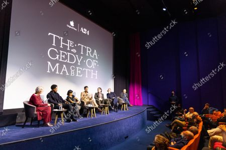 """Corey Hawkins, Kathryn Hunter, Alex Hassell, Harry Melling, Bertie Carvel and Bruno Delbonnel attend Apple's special screening and Q+A of """"The Tragedy Of Macbeth"""" at The Ham Yard Hotel. Apple and A24's """"The Tragedy Of Macbeth"""" will premiere in select UK cinemas in December and globally on Apple TV+ January 14, 2022."""