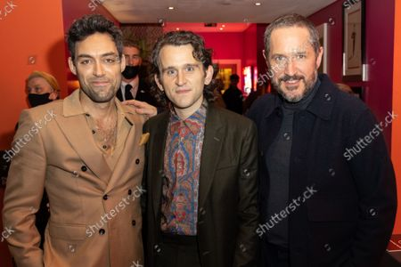 """Alex Hassell, Harry Melling and Bertie Carvel attend Apple's special screening and Q+A of """"The Tragedy Of Macbeth"""" at The Ham Yard Hotel. Apple and A24's """"The Tragedy Of Macbeth"""" will premiere in select UK cinemas in December and globally on Apple TV+ January 14, 2022."""